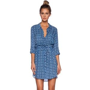 Velvet Jordy blue print Challis shirt dress